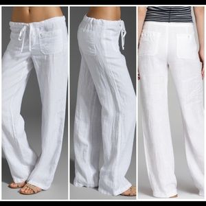 8835705f54 Vince Pants - Vince White Drawstring Linen Beach Pants